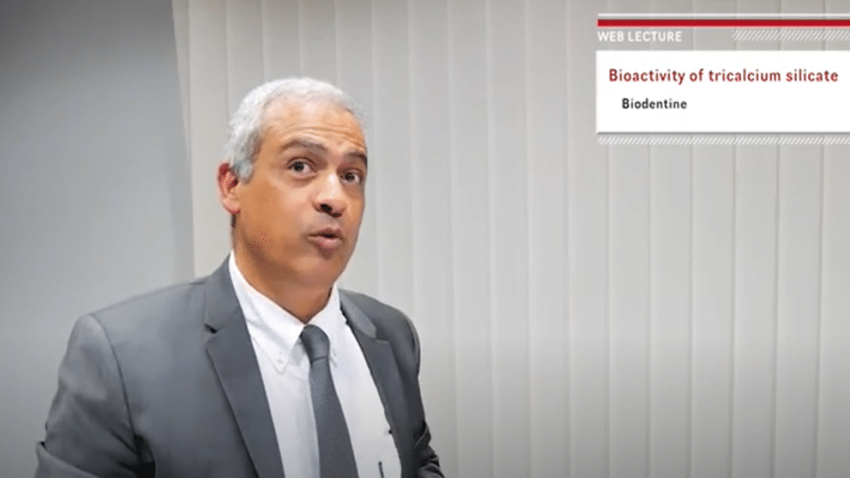 """Septodont webinar """"Bioactivity of tricalcium silicate"""" – Prof. Imad About"""