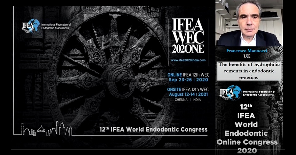 """Webinar Septodont """"What is the benefit of hydrophilic cements in endodontic practice?"""" – Prof Francesco Mannocci"""
