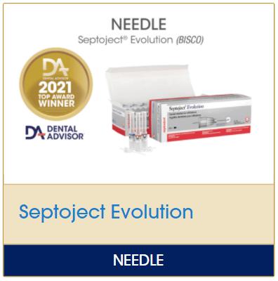 Septoject Evolution Needles - Dental Advisor 2021 Top Award